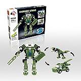 Forest - Transform Roboter, Change Union Serie,0358 - 3in1 Baukasten mit 214 Teilen - Sammle alle 4 Sets und baue den Me