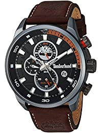 Timberland Men's TBL14816JLU02A HENNIKER II Analog Display Analog Quartz Brown Watch
