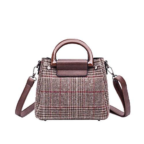 Handtaschen Für Damen Kleine Woolen Cross Umhängetasche Damen Handtaschen,Brown-S
