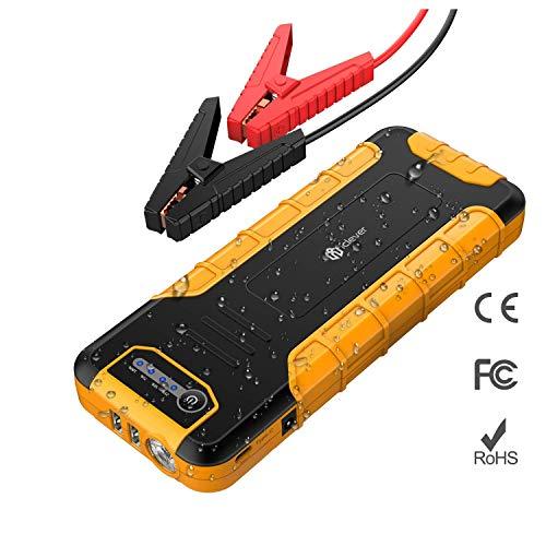 iClever 800A Peak 20000mAh Auto Starthilfe, Stromversorgung 15 W USB Typ C Power Bank mit Dual USB 3.0 Schnellladung für Nintendo Switch, MacBook 2015/2016, USB Typ C Laptop