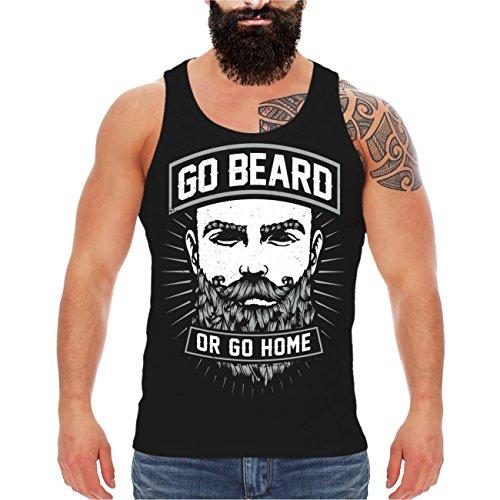 und Herren Trägershirt Go Beard or Go Home Größe M - 8XL (Bart Bei Männern)