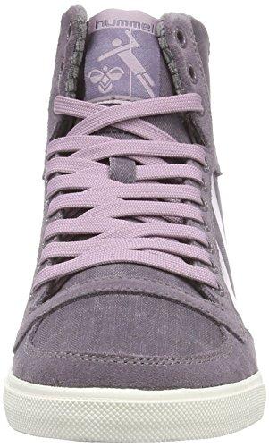 hummel SS WAXED HERRINGBONE Unisex-Erwachsene Hohe Sneakers Violett (Plum  Perfect 4073) ...