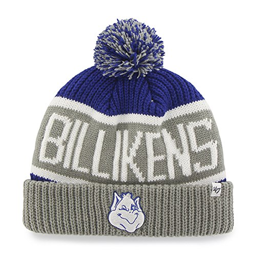 47 Brand St. Saint Louis Billikens Gray Cuffed Calgary Beanie Mütze mit Pom - NCAA Cuff Winter Knit Toque Gap (Ncaa Beanies Mit Pom)
