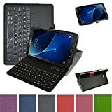 GALAXY TAB A 10.1 Bluetooth Tastatur hülle, Mama Mouth Abnehmbare Bluetooth Tastatur (QWERTY, englisches layout) hülle mit Standfunktion für 10.1' SAMSUNG GALAXY TAB A 10.1 T580N T585N Android Tablet,Schwarz