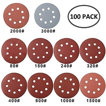 """10x 6/"""" 120 Grit ponçage disque Papier Crochet Et Boucle Support PONCEUSE ABRASIF Air"""