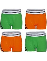 4er Reflexx Jungen Boxer, orange/grün, Gr.110-116