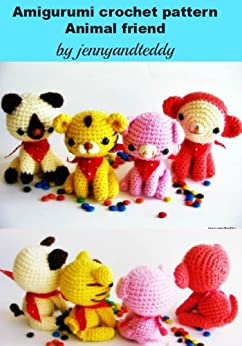 Amigurumi crochet pattern animal friends cat,tiger,monkey,pig (English Edition) von [jennyandteddy]