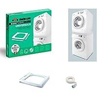 Meliconi Kit IMPILATO Universale L60 per Lavatrice E ASCIUGATRICE Bianco 65662