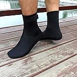 Generic 3mm Dicke Neopren Tauchen Surfen Schwimmen Socken Wassersport Socken, ideal als Strand Aktivitäten Schuhe - Schwarz, S