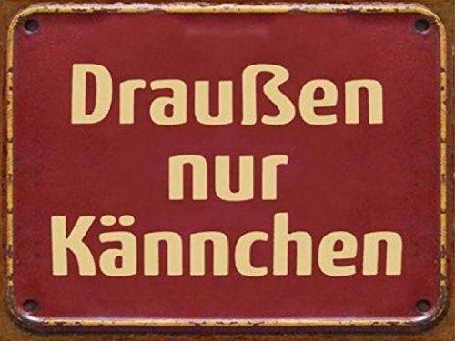 1art1 74698 Restaurants - Draussen Nur Kännchen, Retro Style Poster Blechschild 35 x 26 cm