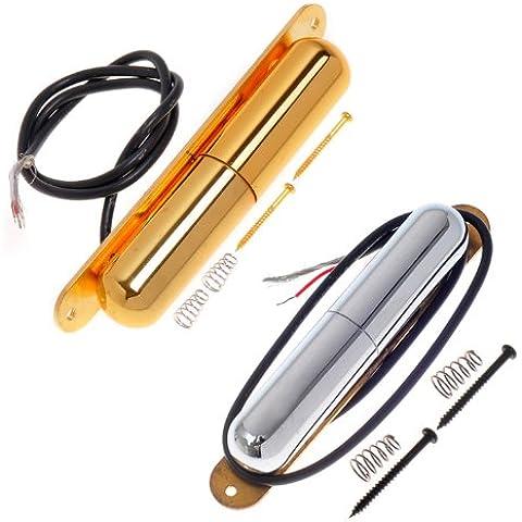 Kmise e cromo oro Bobina Pickup Alnico tubo rossetto pickup chitarra elettrica Parti di ricambio, confezione da 2