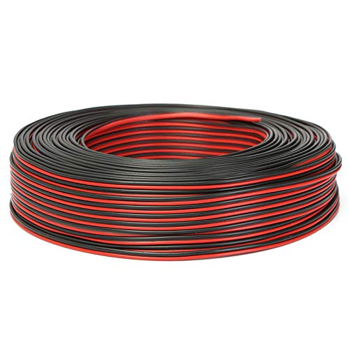 JenNiFer 100M 2 X 0,50Mm Audio Cable Lautsprecher Speaker Wire Black/Red HiFi/Red HiFi/Car Motorcycle Red Hi Fi Audio