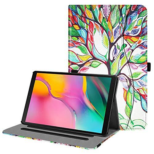 Fintie Hülle für Samsung Galaxy Tab A 10,1 2019 - Multi-Winkel Betrachtung Kunstleder Schutzhülle mit Dokumentschlitze für Samsung Tab A 10.1 Zoll SM-T510/T515 2019 Tablet, Liebesbaum