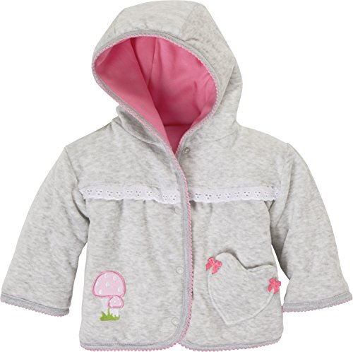 Schnizler Baby-Mädchen Jacke Wendejacke REH, Oeko-Tex Standard 100 Grau/Melange 37, 50