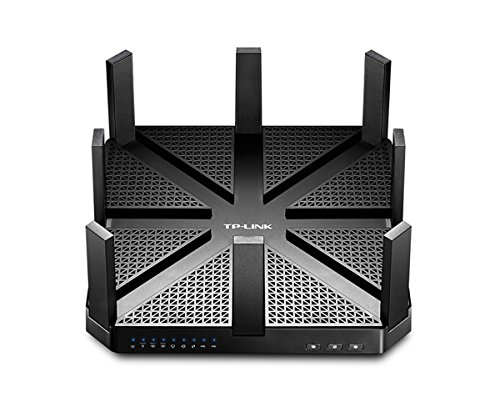 TP-Link Talon AD7200 Router, Wi-Fi 802.11ad, Mu-MIMO, Tri Band: 60 GHz, 5 GHz e 2.4 GHz, Processore 1,4 GHz Dual-Core, 4 Porte Gigabit LAN, VPN , 2 USB 3.0, 8 Antenne