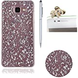 Bling Paillette Coque Pour Samsung Galaxy A3 2016 / A310, SKYXD Transparente Shine Bling Glitter Coque Ultra Slim Crystal Premium Housse Étui Soft Silicone TPU Bling Strass Protection Coque Pour Samsung Galaxy A3 2016 / A310-- Argent Feuille D'or