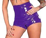 Insistline Datex Latex Slip Mieder Retro Hochtaille-Slip Pantalettes Zipp im Schritt Gr. XXL violett