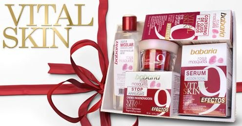 Babaria - Rosa mosqueta agua micelar 200ml + crema regeneradora 50ml + serum antiarrugas 50ml + borrador optico 30ml + crema facial Mujer