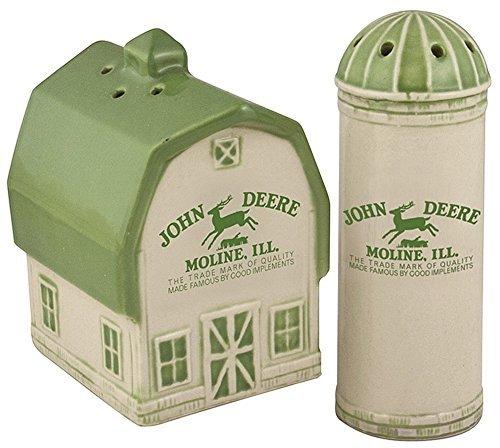 Deere Vintage Logo Salt and Pepper Shaker Set Logo Shaker Set