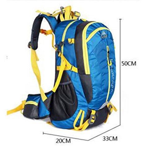 40L Wasserdicht Im Freien Lässige Kleidung Reisen Rucksack Licht Klettern Schulter Tasche Blue