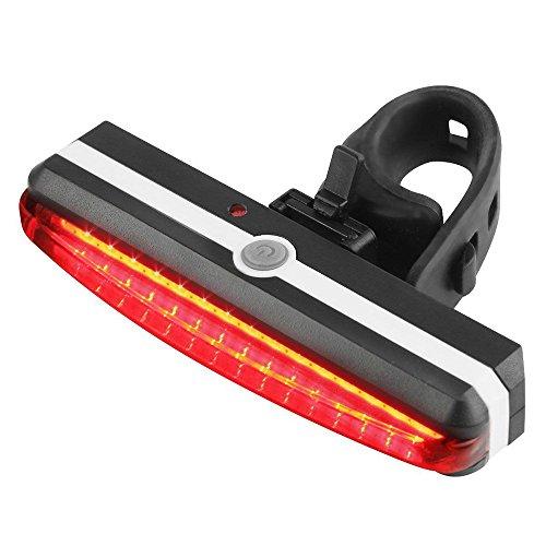 Fahrrad Rücklicht, Ulanda-EU Ultra Hell LED USB Aufladbar Wasserdichte Fahrradlicht Fahrradbeleuchtung Fahrradlampe Fahrradrücklicht Lichter mit 6-Modi-Optionen Geeignet für Helm und Fahrrad etc (Rot)