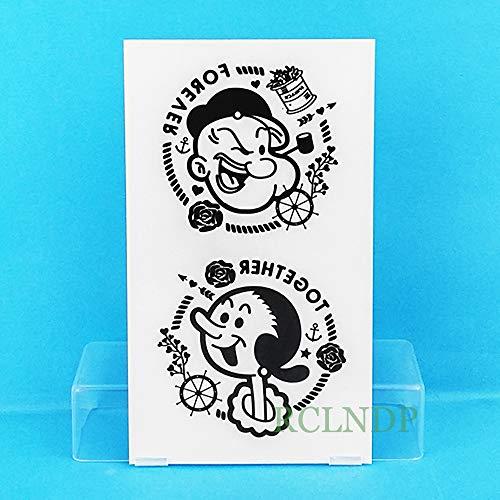te tatoo Tattoo Aufkleber Popeye die Sailor Animation Anime tatto flash tatoo tattoos für kind mädchen frauen männer ()