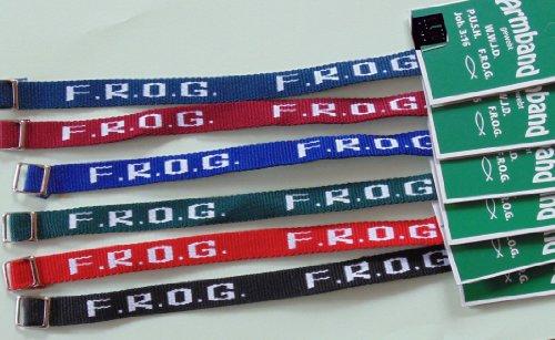 F.R.O.G. Textil-Armband - Völlig auf Gott vertrauen - 10er-Pack