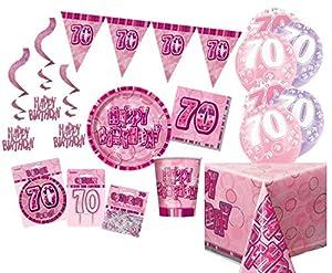 Unique Party Party Kit Color rosa 63761