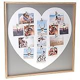 Bilderrahmen Collage Herz 10x15 Fotorahmen Mehrere Bilder Holz Herzform Groß Mehrfachbilderrahmen Family Rahmen Wand Bildercollage
