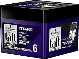 Taft - Gel Coiffant - Power Gel Titane - Pot 250 ml