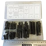 Assorted Box of 114 Compression Springs Good Quality with Black Finish