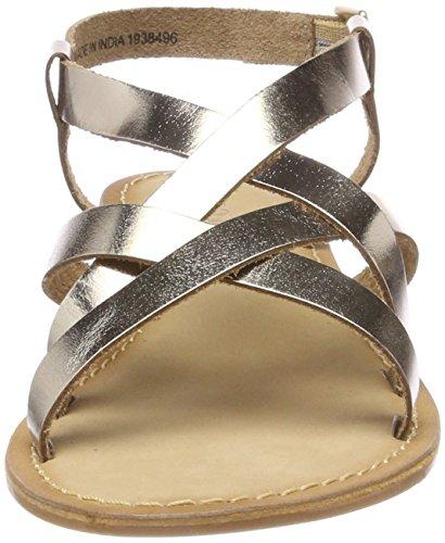 VERO MODA Damen Vmmary Leather Sandal Riemchensandalen Mehrfarbig (Pale Gold)