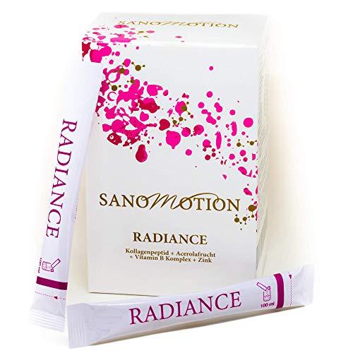 RADIANCE Hydrolysat-Peptide-Pulver Beauty Drink,30x5g hochdosiert Kollagen Stick plus Vitamin Komplex und Zink, Hyaluron-säure Elastin, Hautstraffung, Anti-Falten, starke Nägel und Haare Monatspackung -