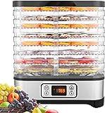 COOCHEER Déshydrateur Aliment 8 Plateaux, Déshydrateur de Légume de Fruit avec Minuterie et Réglages de Température, écran à LED, 400W
