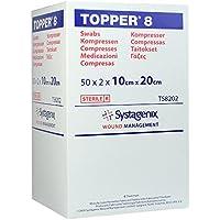 Topper 8 Kompressen 10x20 cm Steril, 50X2 St preisvergleich bei billige-tabletten.eu