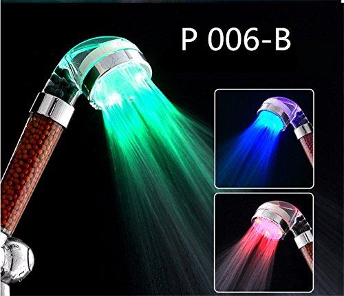 Anion Shower Spa - Duschkopf Druckwasser - Einsparung von Temperaturregelung Bunte Handheld - Große Regenbrause B - Duschkopf Speakman