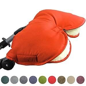 bambiniwelt universaler muff handw rmer f r kinderwagen buggy jogger mit wolle melierter. Black Bedroom Furniture Sets. Home Design Ideas