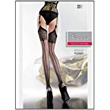 Edvige Fiore Obsession Designer Patterned Stockings 20 Denier