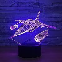 KZ1249 Efecto de ilusión 3D Night Night LED Lámpara de noche con 7 colores que cambian para decoraciones de Ministerio del Interior Juguetes y regalos para niños Cumpleaños de Navidad