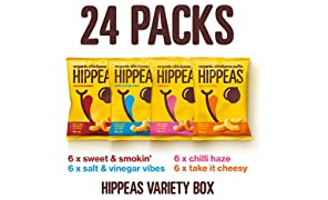 Hippeas Organic Chickpea Puffs, Variety Pack 22g (Pack of 24)