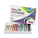 Pentel Boîte de 12 pastels à l'huile assortis