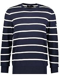 Henri Lloyd Jumper Mens Patrick Navy Stripe Crew Neck Knit