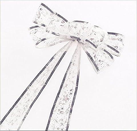 Bling Glitzer Große Christbaumspitze Girlande Weihnachten Schleife Dekoration Outdoor Dekorationen Musik notationen Sterne Innen onaments ideal für Xmas Tree, Hochzeit Dekoration, Geburtstag