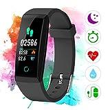 Fitness Armband mit Pulsmesser Farbdisplay IP67, Winisok Fitness Tracker mit Herzfrequenz-Blutdruckmessgerät Wasserdicht Schwimmen Smart Armband Pedometer Kompatibel mit iOS Android APP auf Deutsch
