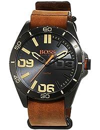 BOSS Orange Herren-Armbanduhr Analog Quarz Leder 1513316