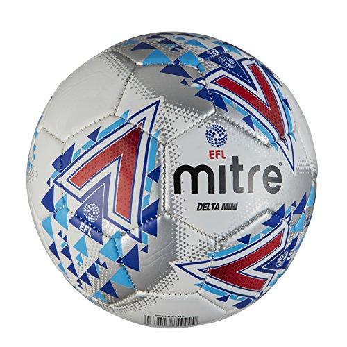 Mitre, efl delta mini, pallone da calcio, unisex adulto, bianco, mini