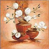 Keilrahmen-Bild - Claudia Ancilotti: Marella Leinwandbild Stillleben modern floral Blumen (50x50)