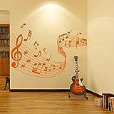 Note musicale Score Stickers Muraux Musique Sticker Art Disponible en 5 tailles et 25 couleurs