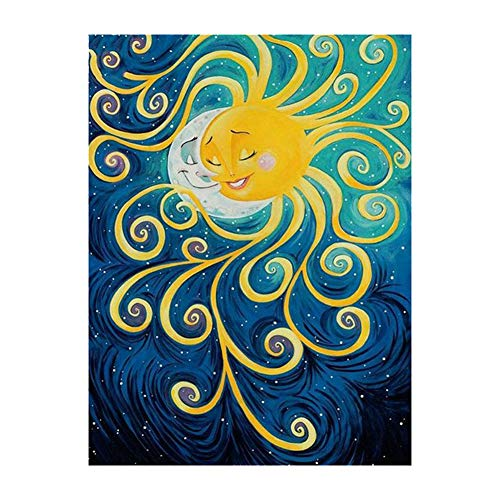 Kentop DIY 5D Diamond Painting Set - Sonne und Mond- 5D Diamant Painting Full Kits Handwerk Wie Stickerei Kreuzstich (Sonne Und Mond Handwerk Kits)