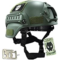 MICH 2000 combate casco protector con carril lateral y montaje NVG verde para Airsoft caza Paintball táctico militar